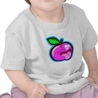 Niedlicher glücklicher rosa Apfel für Baby im weiß