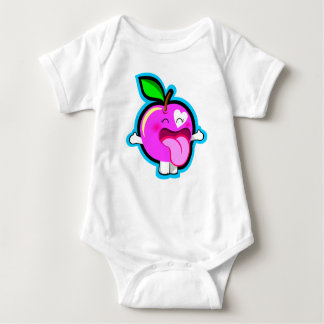 Niedlicher glücklicher rosa Apfel für Baby T-Shirts