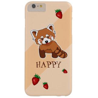 Niedlicher glücklicher roter Panda mit Erdbeere Barely There iPhone 6 Plus Hülle