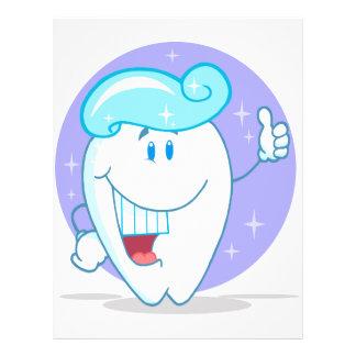 niedlicher glücklicher sauberer funkelnder Zahn-Ca 21,6 X 27,9 Cm Flyer