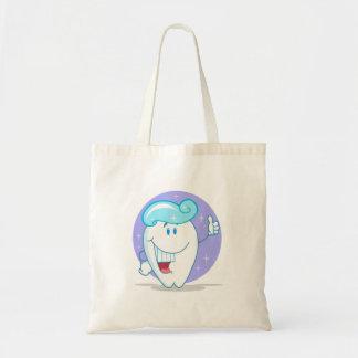 niedlicher glücklicher sauberer funkelnder Zahn-Ca Einkaufstasche