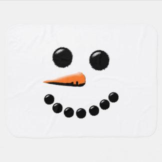Niedlicher glücklicher Snowman-Gesichts-weißes Puckdecke