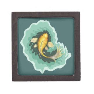 Niedlicher Goldfish Koi Schmuckkiste