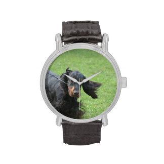 Niedlicher Gordon-Setzer Armbanduhr