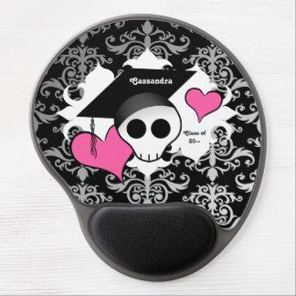 Niedlicher gotischer Abschlussschädel Gel Mouse Matte