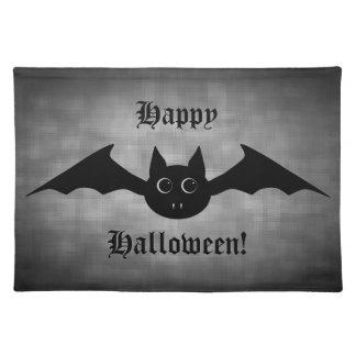 Niedlicher gotischer Halloweenvampireschläger mit  Tischset