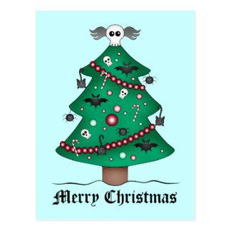 Niedlicher gotischer Weihnachtsbaum Postkarte