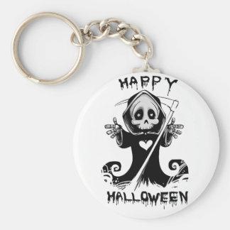 Niedlicher grimmiger Sensenmann Halloween Schlüsselanhänger