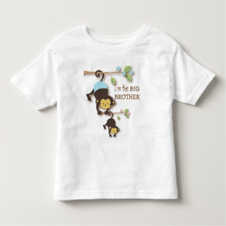 Niedlicher großer Bruder-Affe mit Lil Baby-SIS Tshirts