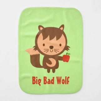 Niedlicher großer schlechter Wolf mit Apple für Baby Spucktuch