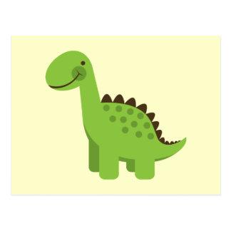 Niedlicher grüner Dinosaurier Postkarte