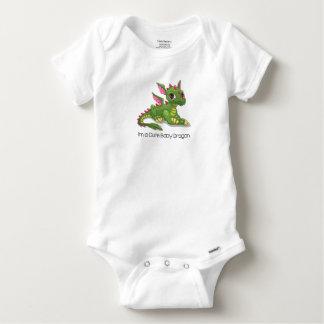 Niedlicher grüner Drache Baby Strampler