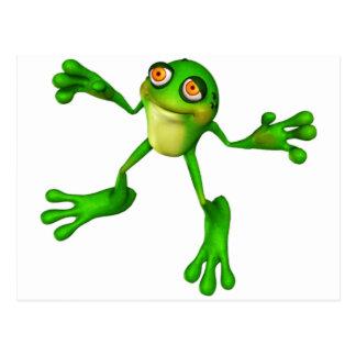 Niedlicher grüner Froggy Postkarte