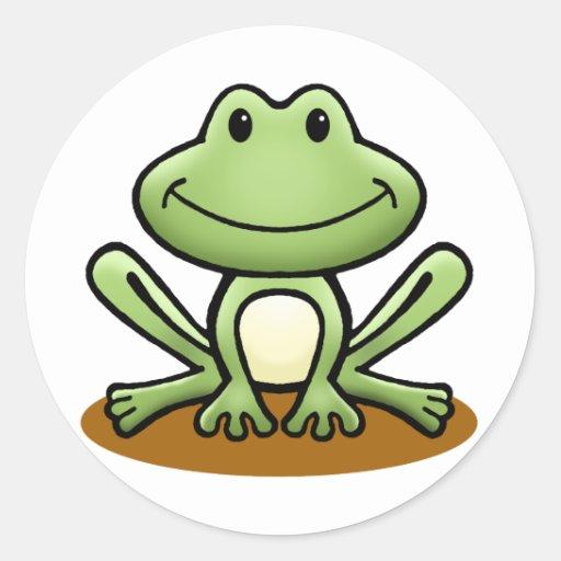 Niedlicher grüner Frosch Stickers