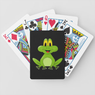 Niedlicher grüner Frosch-Cartoon Bicycle Spielkarten