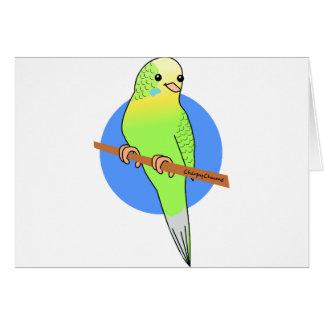 Niedlicher grüner Parakeet Karte