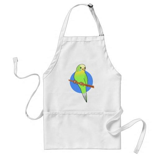 Niedlicher grüner Parakeet Schürzen