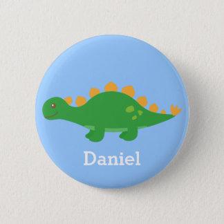 Niedlicher grüner Stegosaurus-Dinosaurier für Runder Button 5,1 Cm