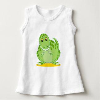 Niedlicher grüner T-Rex oder Tyrannosaurus Rex Kleid
