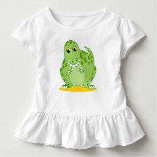 Niedlicher grüner T-Rex oder Tyrannosaurus Rex Kleinkind T-shirt