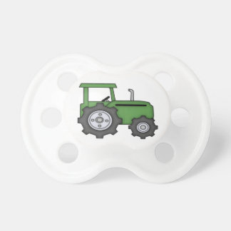 Niedlicher grüner Traktor Baby Schnuller