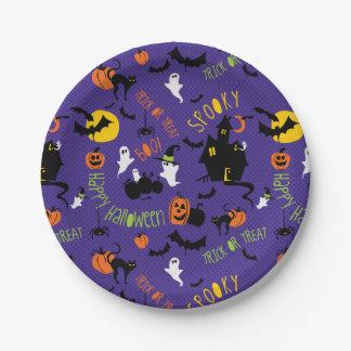 Niedlicher Halloween-Druck-Party-Teller Pappteller