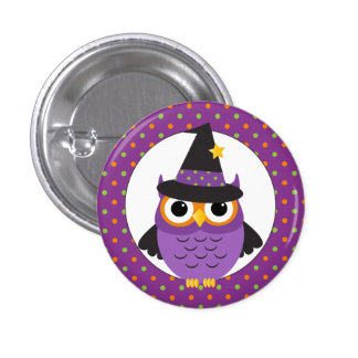 Niedlicher Halloween-Eulen-Knopf Anstecknadel