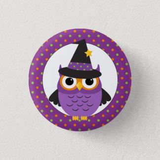 Niedlicher Halloween-Eulen-Knopf Runder Button 2,5 Cm