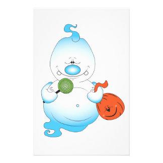 Niedlicher Halloween-Geist-Cartoon Flyer