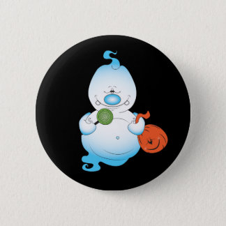 Niedlicher Halloween-Geist-Cartoon Runder Button 5,7 Cm
