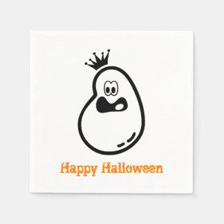 Niedlicher Halloween-Geist mit Krone Servietten