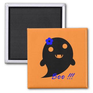 Niedlicher Halloween-Geist Quadratischer Magnet