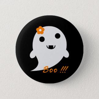 Niedlicher Halloween-Geist Runder Button 5,7 Cm
