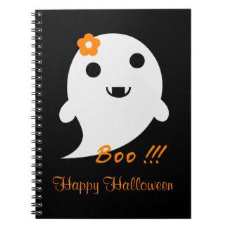 Niedlicher Halloween-Geist Spiral Notizblock