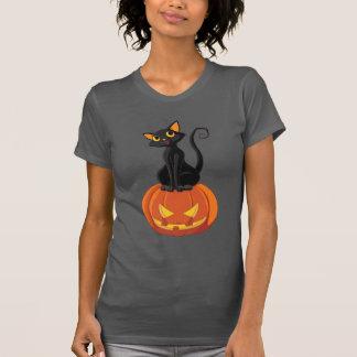 Niedlicher Halloween-Katzen-T - Shirt mit Katze