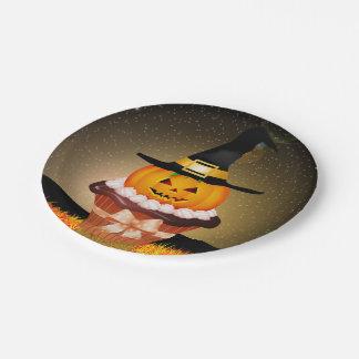 Niedlicher Halloween-kleiner Kuchen 7 Pappteller
