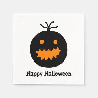 Niedlicher Halloween-Kürbis Papierserviette
