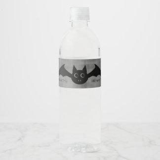Niedlicher Halloween-Schläger Wasserflaschenetikett