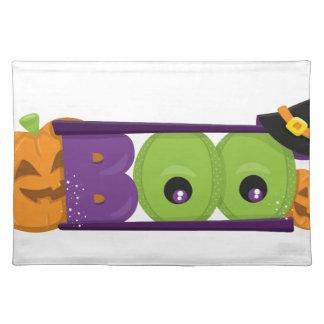 Niedlicher HalloweenBoo Stofftischset