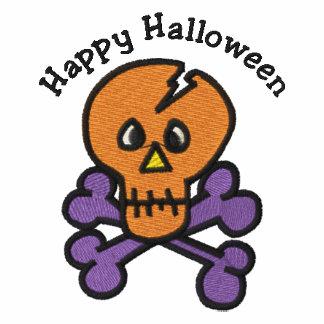 Niedlicher Halloweenschädel und -gekreuzte Knochen