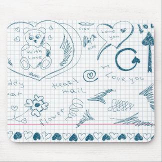 Niedlicher Handskizze-Entwurf! Mousepad