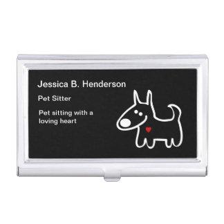 Niedlicher Haustiersitter-Geschäfts-Karten-Kasten Visitenkarten Etui