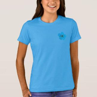 Niedlicher heller blauer Anemonen-Blumen-T - Shirt