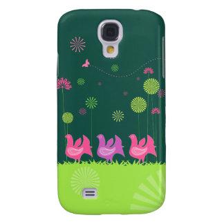 Niedlicher Henne und Blumen iPhone 3 Fall Galaxy S4 Hülle