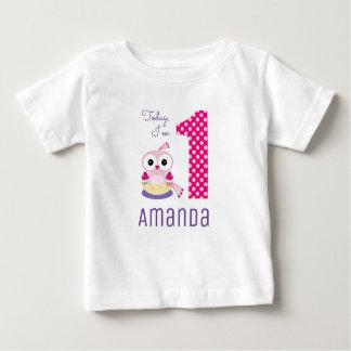 Niedlicher heutiger Tag bin ich 1 rosa Baby T-shirt