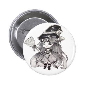 Niedlicher Hexe-Knopf-Entwurf durch Victoria Runder Button 5,7 Cm