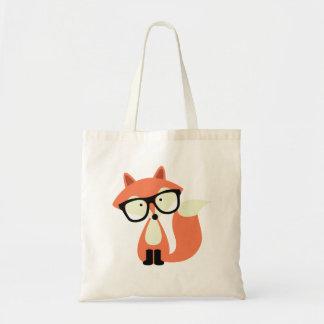 Niedlicher Hipsterroter Fox Budget Stoffbeutel