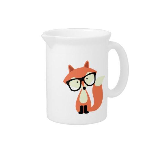 Niedlicher Hipsterroter Fox Getränke Krüge