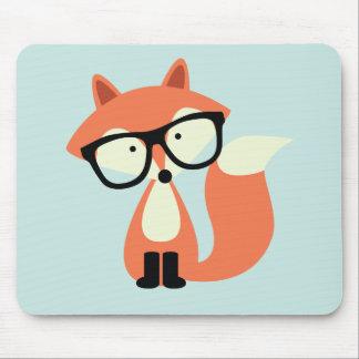 Niedlicher Hipsterroter Fox Mauspad