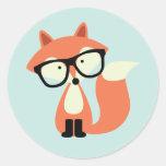 Niedlicher Hipsterroter Fox Sticker
